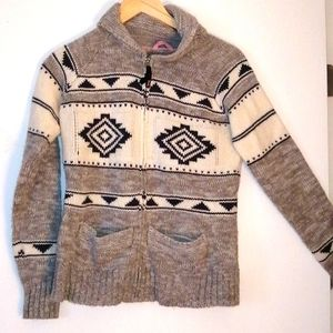 Triple five Wool and polyester cardigan size small